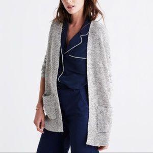 Madewell Marled Postscrips Cardigan Sweater Linen